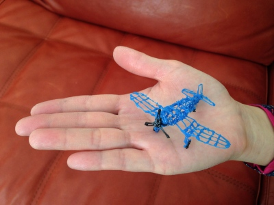 Miniature Corsair made with 3Doodler Pen In Palm
