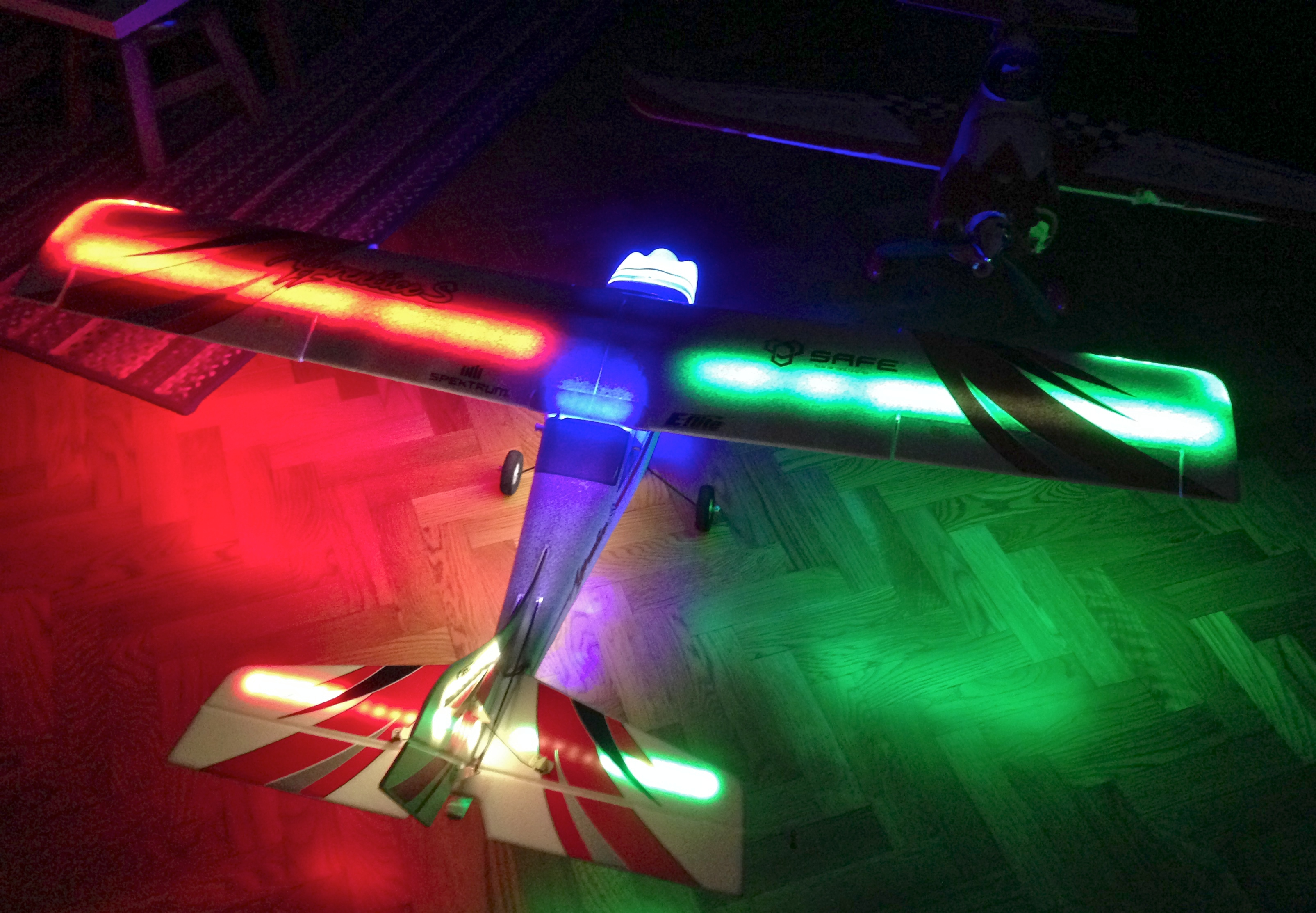 Night Flying With Led Lights On The E Flite Apprentice S