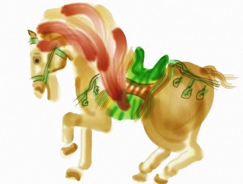 Horse in Tang Sancai style