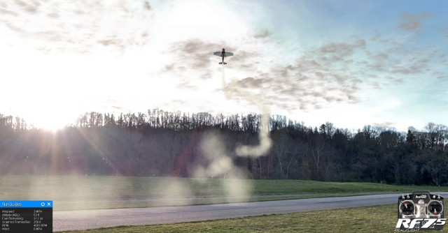 Flying at the Aerodrome on a late afternoon, in RealFlight