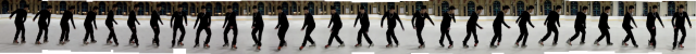 Stop motion picture of Jordan skating the Grapevine stitched from the Hockey Tutorial video