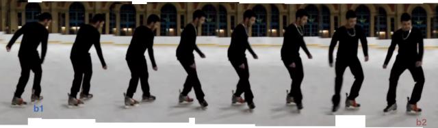 Skating from b1 to b2