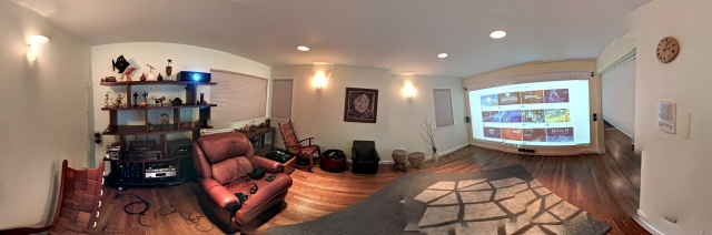 Man cave with Oculus Rift and Touch