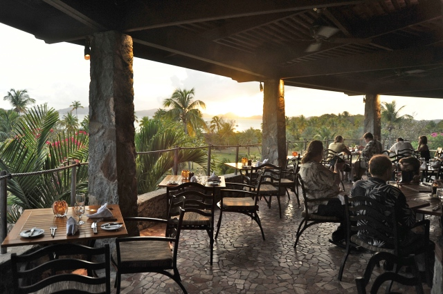 Sunset at the Equator Restaurant