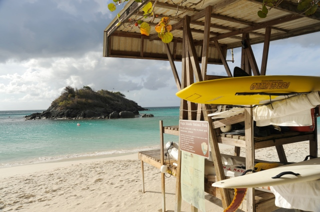 Lifeguard station at Trunk Bay