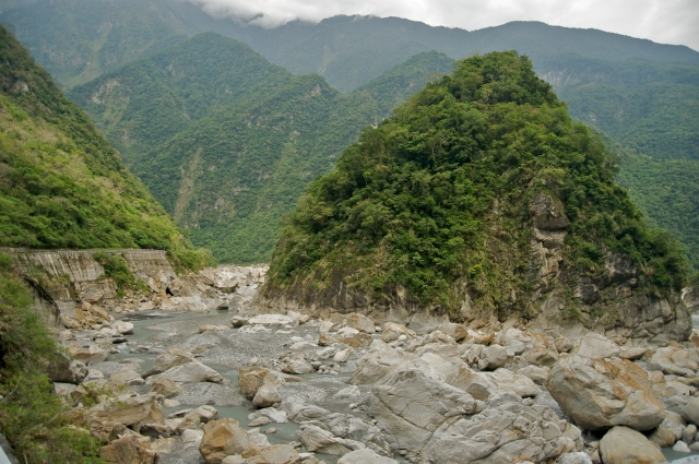 Spectacular view of the Taroko Gorge on the Central Cross-Island Highway in Taiwan