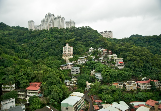 Citiscape view of the Xindian City in Taipei County, Taiwan