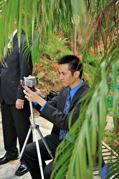 A videographer