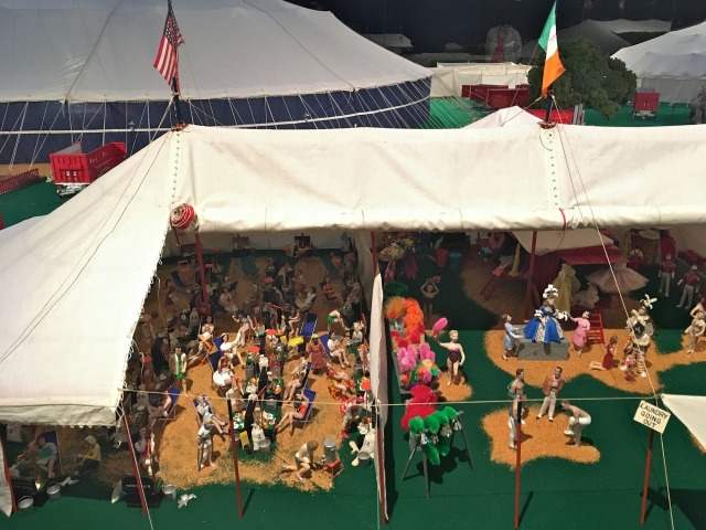 Ringling Museum Scale Model Circus Dressing Tent