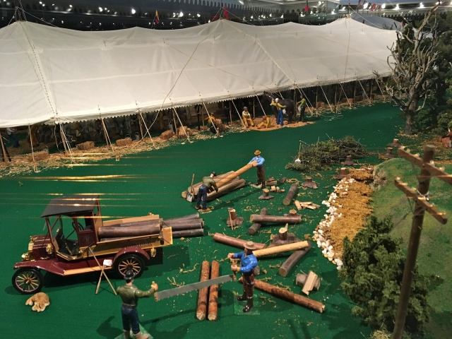 Ringling Museum Scale Model Circus Logging