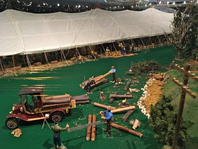 Ringling Museum Scale Model Circus Logging