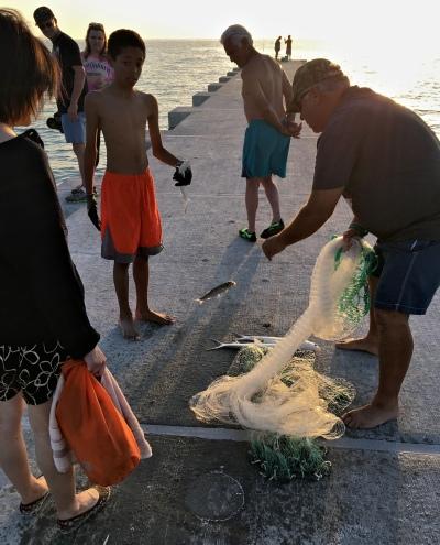 Net-fishing on the Cortez Beach Goin