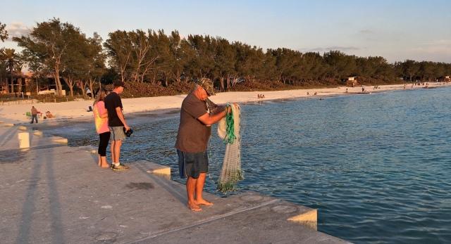 Cortez Beach Cast Net Fishing Sequence 01 of 11