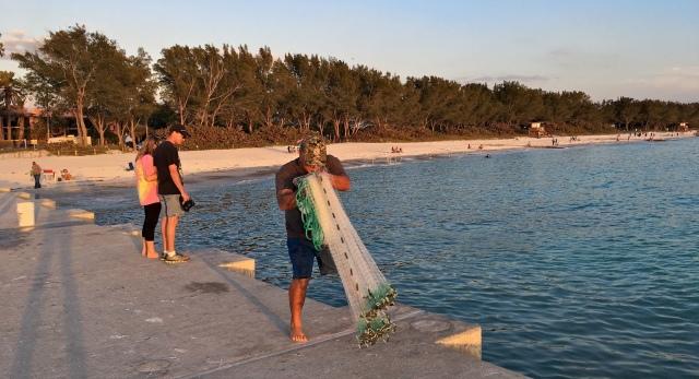 Cortez Beach Cast Net Fishing Sequence 02 of 11