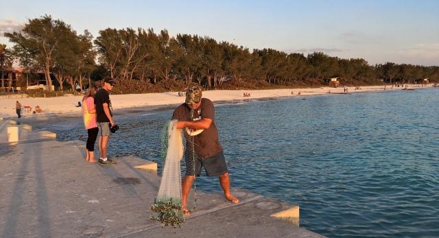 Cortez Beach Cast Net Fishing Sequence 03 of 11