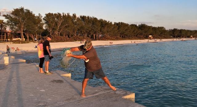 Cortez Beach Cast Net Fishing Sequence 04 of 11