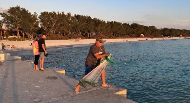 Cortez Beach Cast Net Fishing Sequence 05 of 11