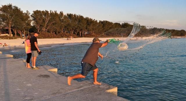 Cortez Beach Cast Net Fishing Sequence 06 of 11