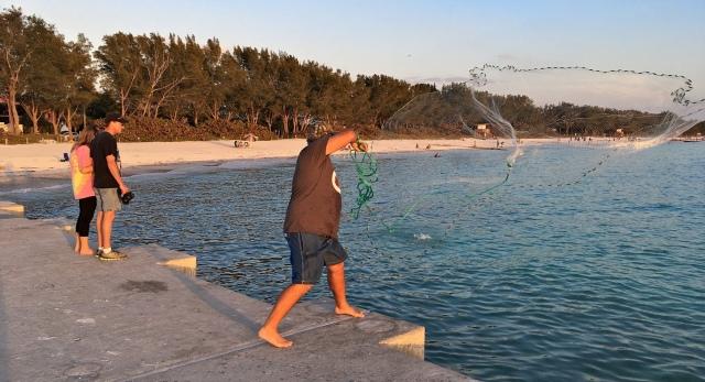 Cortez Beach Cast Net Fishing Sequence 07 of 11