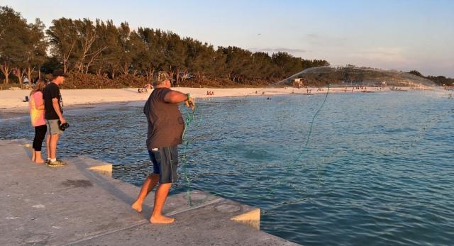 Cortez Beach Cast Net Fishing Sequence 08 of 11