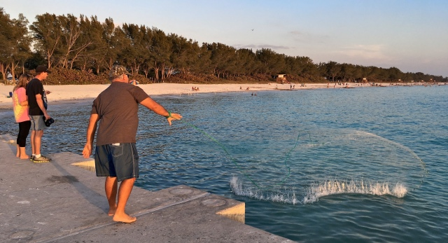 Cortez Beach Cast Net Fishing Sequence 09 of 11