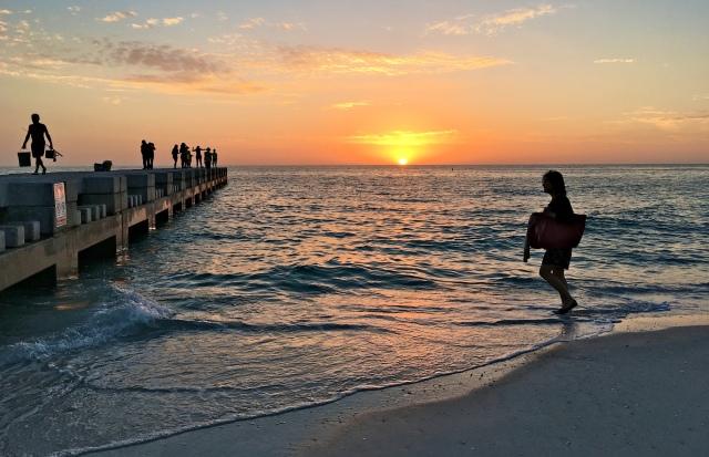 Sunset at Cortez Beach