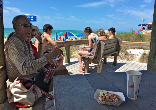 Chatting with Locals at Lido Beach