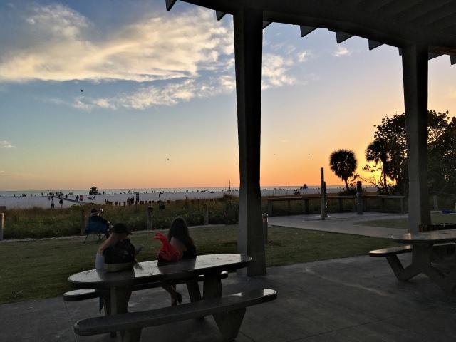 View from Siesta Key Beach Pavilion