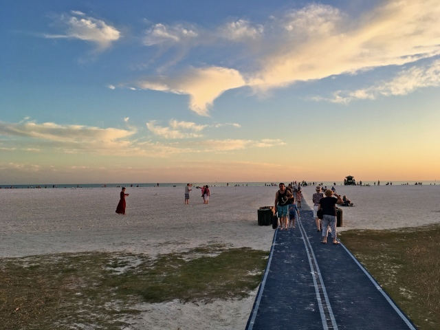 Roll-out Mat Pathway at Siesta Beach on Siesta Key