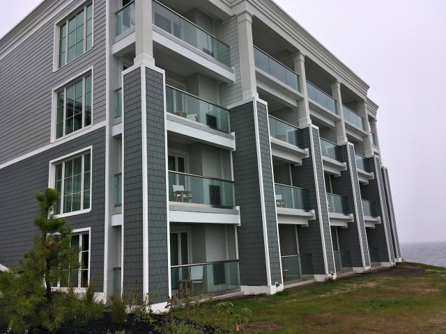 Another wing of the new Northpoint building facing the ocean