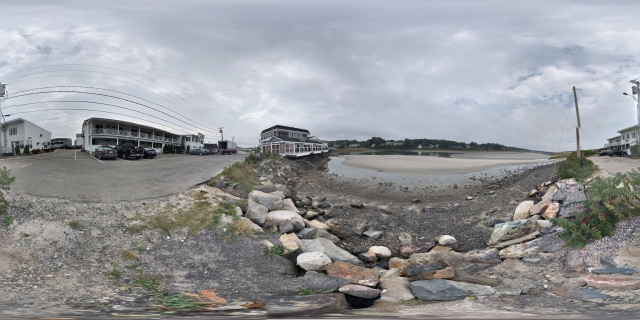 View of the Tidal Suites at the Norseman Resort from the private parking lot