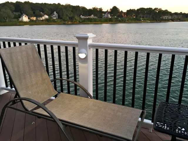 Tidal Suites at the Norseman Resort overlooking the mouth of the tidal Ogunquit River