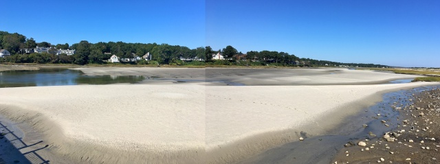 Tidal Suites at the Norseman Resort - view of the Ogunquit River at low tide