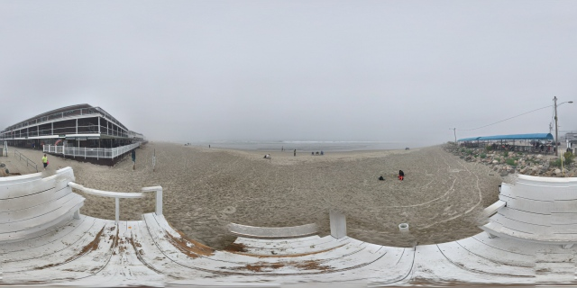 View of the Ogunquit Beach and the Norseman Resort from the lifeguard station