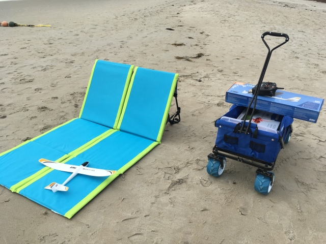 Ollieroo Folding Beach Wagon and Pacific Breeze Beach Lounger