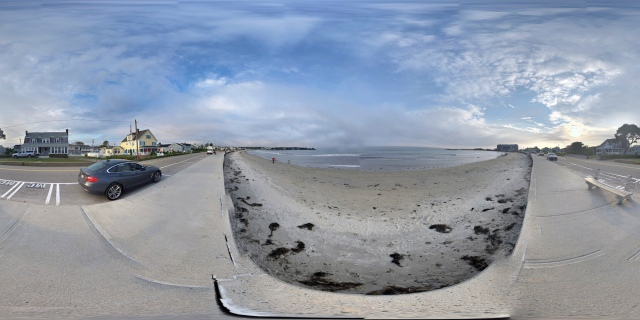 360° panorama of Gooch's Beach, Kennebunkport