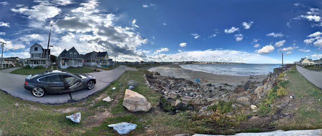 360° panorama of Short Sands Beach at York Beach