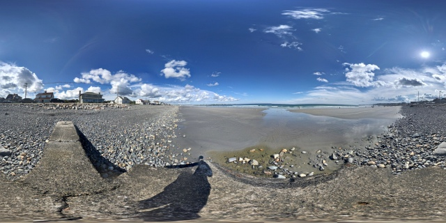 360° panorama of Long Sands Beach at York Beach