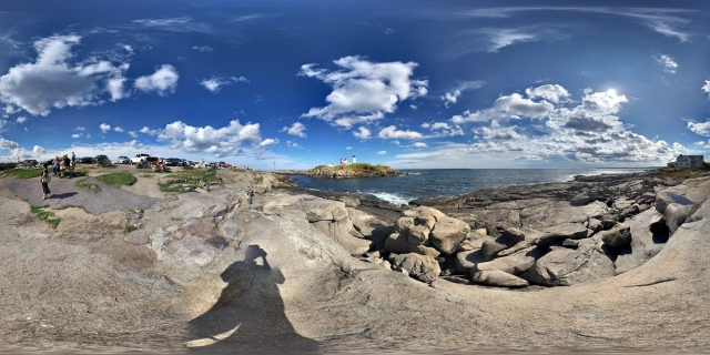 360° panorama of Cape Neddick Light - Nubble Lighthouse