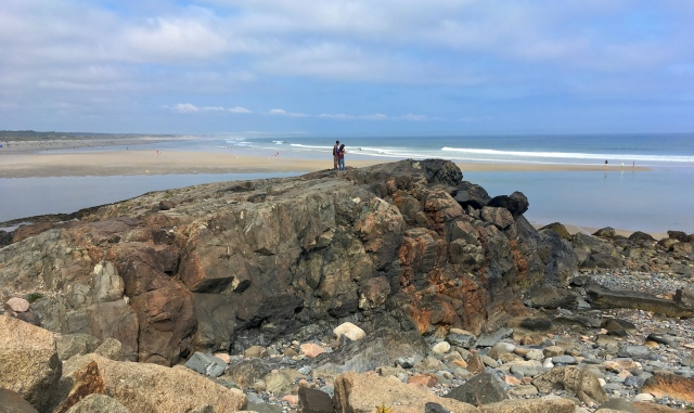 Rock formation overlooking Ogunquit Beach