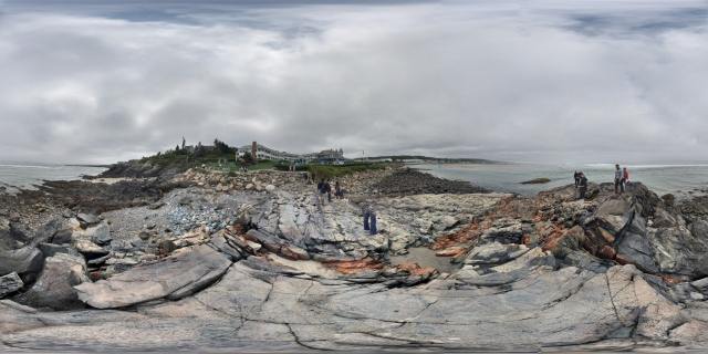 360° panorama standing on a rock formation by Marginal Way