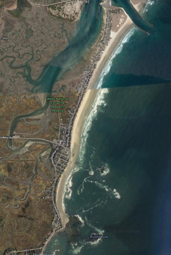 Map of Wells Beach