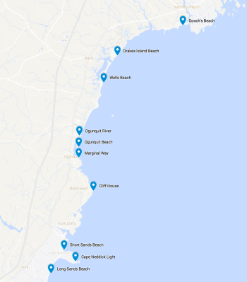 Points of Interests around Ogunquit