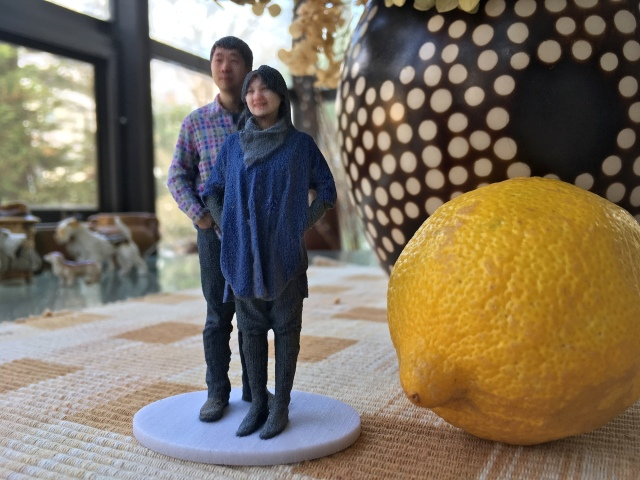 3D Selfie in 1:20 scale scanned at Madurodam and printed by Shapeways