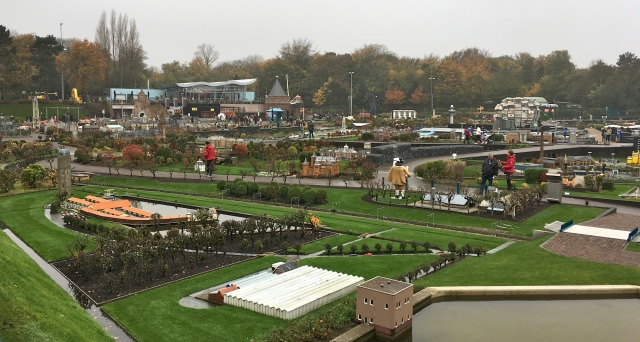 Fantasitron at the upper right hand corner, Madurodam in the Netherlands