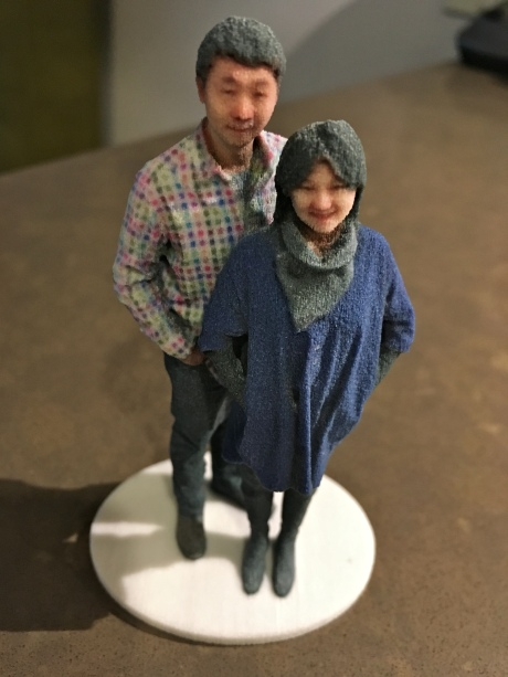 3D selfie in 1:20 scale as received from Shapeways, the printer company for Madurodam's Fantasitron