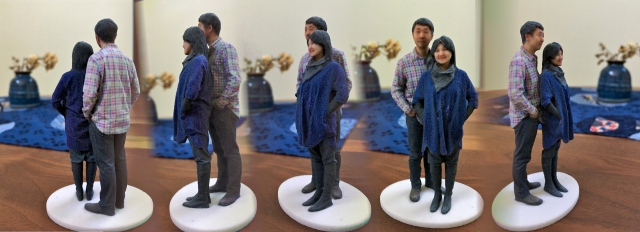 Madurodam Shapeways 3D selfie in 1:20 scale after first spray of varnish