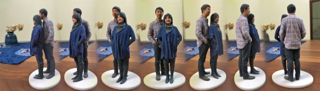 Madurodam Shapeways 3D selfie in 1:20 scale after a second spray of varnish