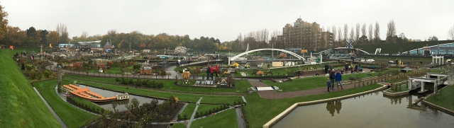 Miniature world in 1:25 scale Madurodam at the Hague - Panorama