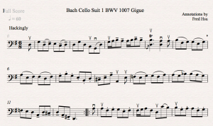 Bach Cello Suite 1 BWV 1007 Gigue Fred Annotations Icon